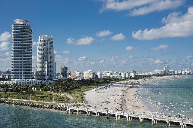 výhled na Miami