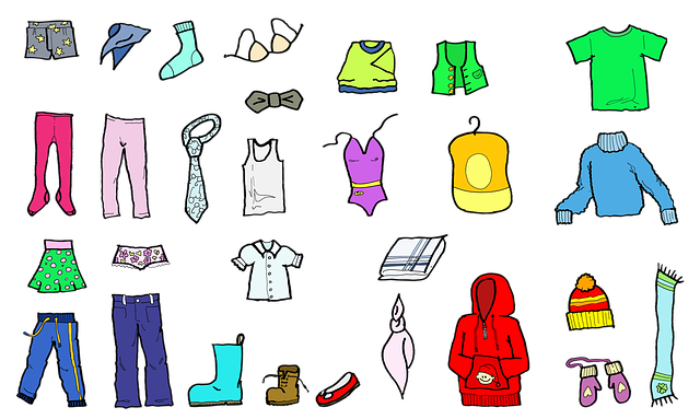 oděvy ilustrace